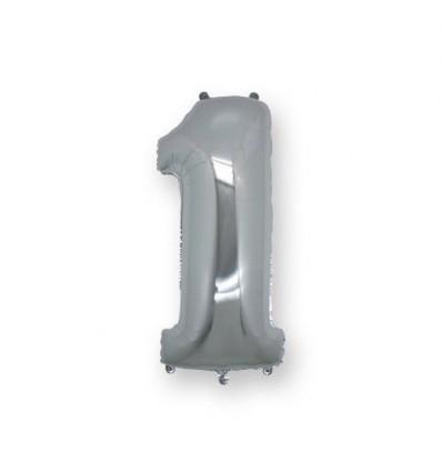 Mylar n1 Argento 36 cm