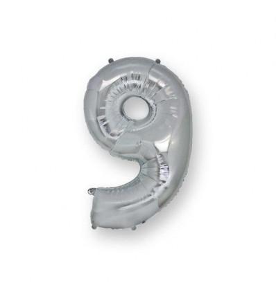 Mylar n9 Argento 36 cm
