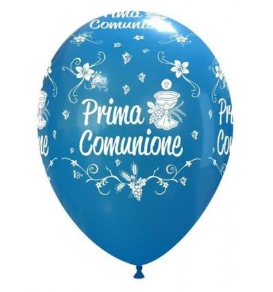 """Palloni ad elio 1 Comunione 12 """" blu"""