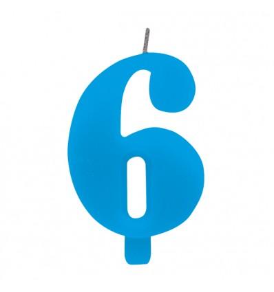 Candelina scintillante numero 6