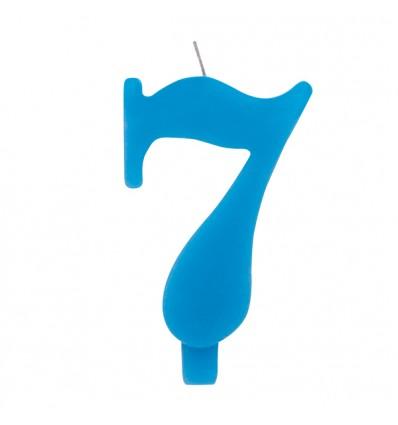 Candelina scintillante numero 7