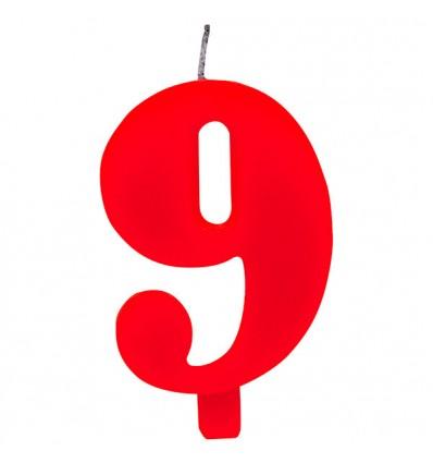 Candelina scintillante numero 9