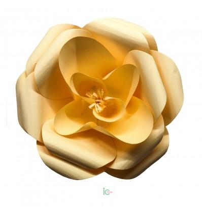 Fiore di carta giallo