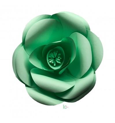 Fiore di carta verde