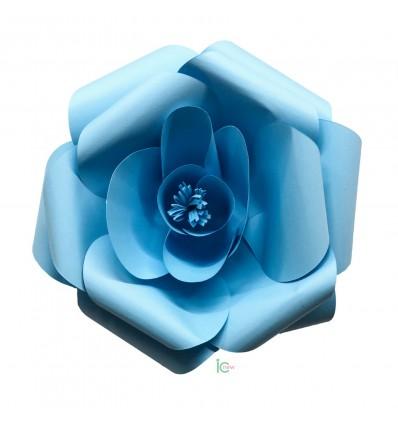Fiore di carta azzurro