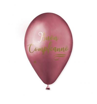 Palloncino chrome Buon compleanno argento