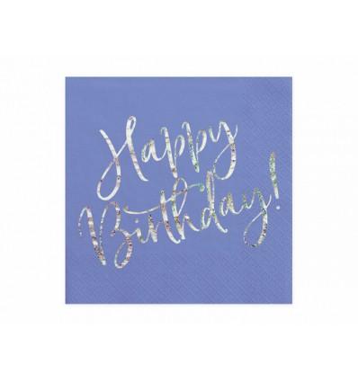 Bicchieri Happy Birthday Blu