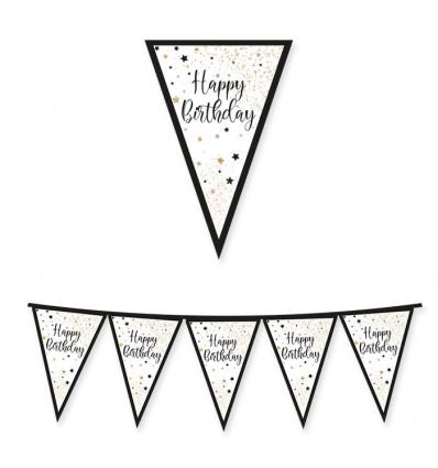 Festone Happy Birthday Italic oro