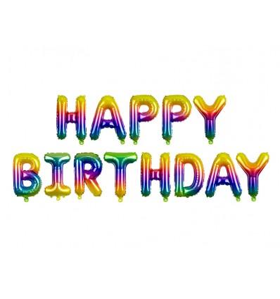 Scritta Happy Birthday sfumature di rosa