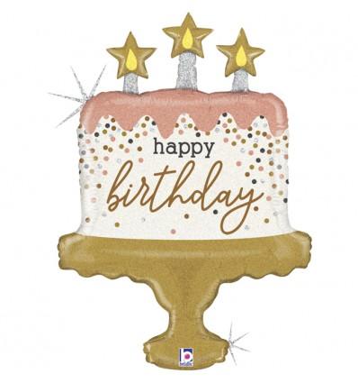 Palloncino Happy Birthday cupcake