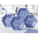 linea Tavola Happy Birthday blu iridescente